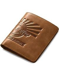 AIM Hombres Billetera de Cuero Bloqueo RFID Bolsillo para Monederos Titular de la Tarjeta de crédito