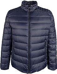 Michael Kors Men's Packable Down Puffer Coat Jacket, Nylon- Midnight