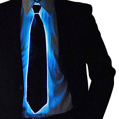 Kostüm Electric Run - Waroomss LED Krawatte, LED Krawatte 10 Farben leuchten Krawatte LED Glow Dark, leuchtende Neuheit Krawatte Unisex LED Krawatte für Party Kostüm Männer Frauen Jungen