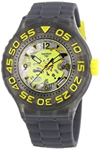 Swatch Herren-Armbanduhr XL Scuba Libre Cuttlefish Analog Quarz Silikon SUUM100