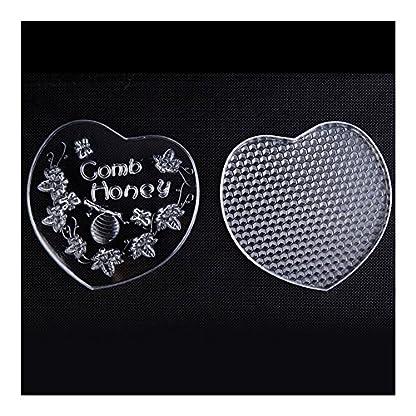 Bee Comb Honey Box Heart Shape Food Level Plastic 3