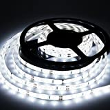 Led Strip Lights Non-Waterproof Led Tape Lights IP20 DC12V Led Light Strip SMD2835 600Leds Strip Of Led Lights 16.4 Ft (5 Meters) Flexible Light Strips Cool White DIY Decoration Strip Led Lights