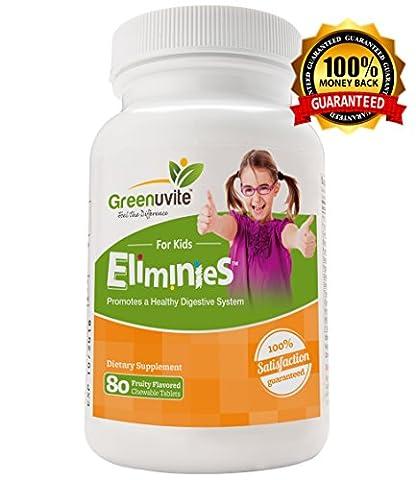 Eliminies by Greenuvite - Nettoyant agissant, haute dose aide a la digestion et la levure Candida, végétalien et entièrement naturel pour les enfants - (90 capsules végétaliennes)