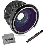 Objetivo Opteka de ojo de pez de alta definición, 0,35 x, súper AF, gran ángulo con macro y paño de microfibra para cámaras digitales SLR Canon EOS 80D, 70D, 60D, 60Da, 50D, 7D, 6D, 5D, 5Ds, T6s, T6i, T6, T5i, T5, T4i, T3i, T3, T2i