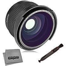 Opteka .35X HD Super AF objetivo ojo de pez Gran Angular con Macro y gamuza de microfibra para Canon EOS 80d, 70d, 60d, 60Da, 50d, 7d, 6d, 5d, 5DS, T6, T6S, T6i, T5i, T5, T4i, T3i, T3, T2i cámaras réflex digitales