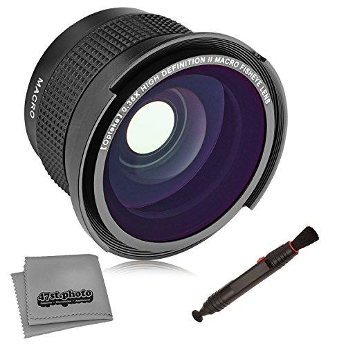 Vivitar Kamera-objektiv (Opteka .35x HD Super AF Weitwinkel-Fisheye-Objektiv für Canon EOS 80D, 70D, 60D, 60Da, 50D, 7D, 6D, 5D, 5DS, T6s, T6i, T6, T5i, T5, T4i, T3i, T3, T2i, abnehmbares Makro, mit Mikrofasertuch )