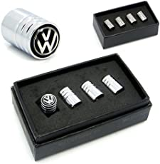 4pcs Volkswagen Logo Air Valve Caps Chrome for Polo Vento Jetta Passat