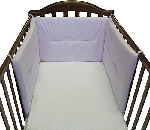 Willy & Co. Tour de lit d'enfant sur trois côtés nouvelles couleurs, fabriqué en Italie lilas