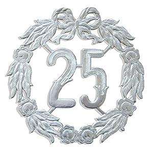 kunze a013060252aniversario número 25, diámetro 18cm, Plata