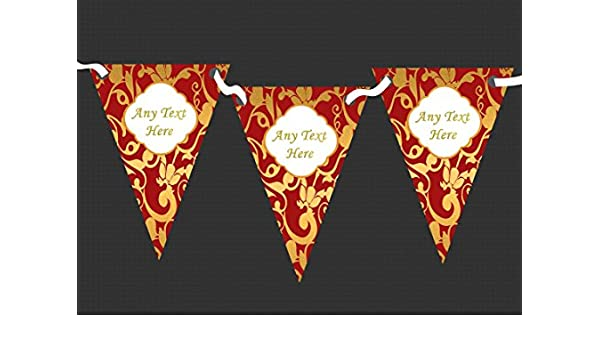 Regal Or Black Personalised Engagement Bunting Party Banner