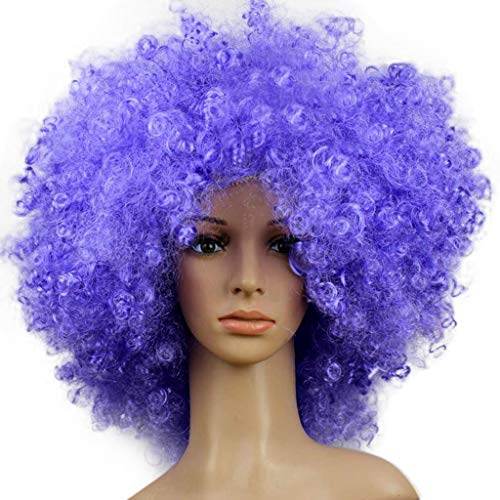 Zolimx Karneval Clown Haar Kopfschmuck Prop Explosion Kopf Verkleiden Sich Party Disco Lustige Afro Fußball Fan Kinder Erwachsene Funny Maskerade Haar Perücke