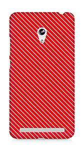 Amez designer printed 3d premium high quality back case cover for Asus Zenfone 6 (Red Pattern3)