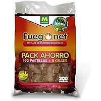 FUEGO NET Fuegonet 231281N Pastillas Ecológicas, Blanco, 27 x 7 x 40 cm
