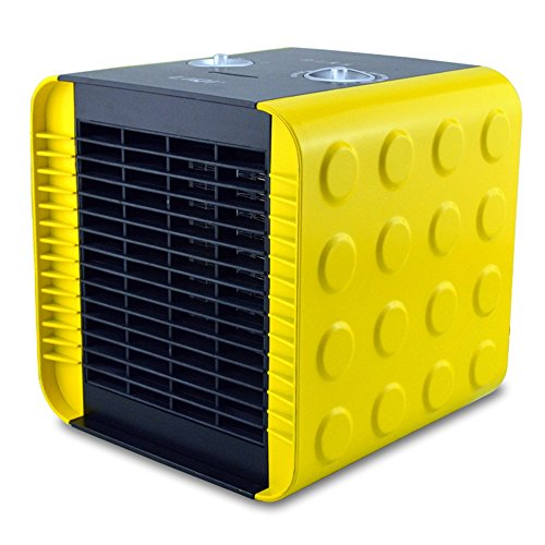 Radiateurs pièce Feifei Mode à la Maison Céramique carrée de Chauffage électrique de PTC Chauffant 750W \ 1500W \ air Froid 18.8 * 18.5CM de Haute qualité. (Couleur : Le Jaune)