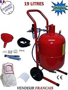 Sableuse mobile 19 litres 4 a 8 bar complete avec accessoires