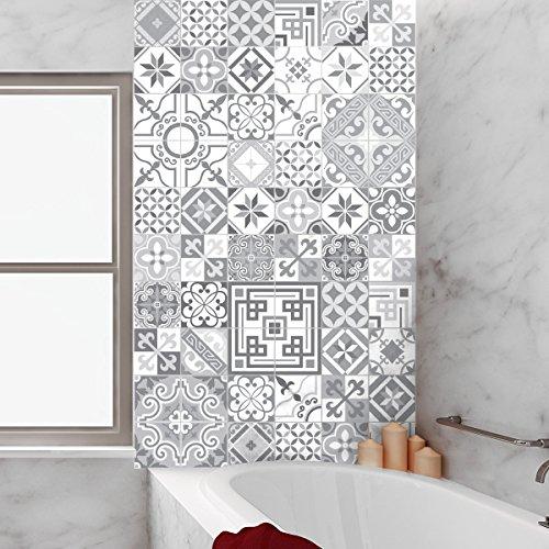 60 Stickers Adhésifs Carrelages | Sticker Autocollant Carrelage   Mosaïque  Carrelage Mural Salle De Bain Et Cuisine | Carrelage Adhésif   Design  Vintage ...