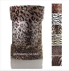Couvre Lit/Canapé Ultra Doux de Luxe avec Motif Leopard Taille Double (150 x 200cm)