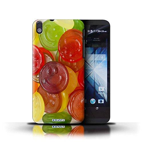 Kobalt® Imprimé Etui / Coque pour HTC Desire 816 / Jelly Faces conception / Série Bonbons Jelly Faces