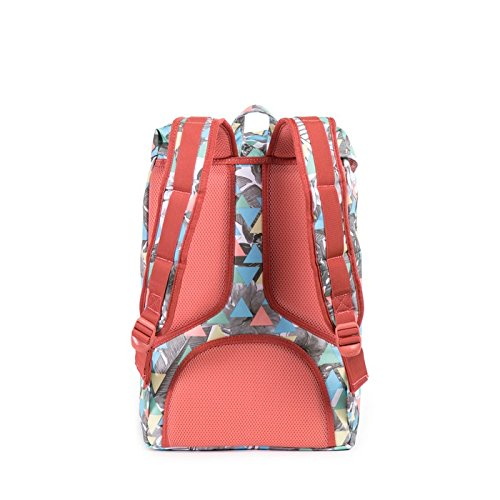 Herschel Supply Co. Rucksack Little America mid-volume, Stellar/Tan Synthetic Leather (blau) - 10020-01334-OS Remix/Flamingo Rubber