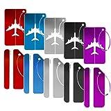 Viaggio bagagli Tag, Gifort Etichette per Valigie in Alluminio,Valigia bagagli Bag Tag ID viaggio borsa Tag Airlines bagagli etichette (10 pezzi)