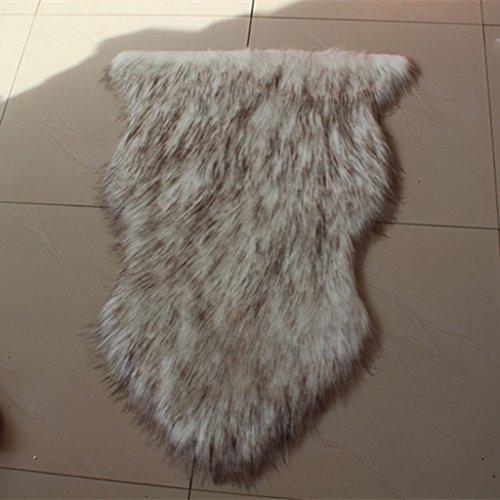 William 337 tappeto di pecora premio finito e cucito a mano in un formato naturale (colore : grigio, dimensioni : 75x155cm)