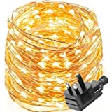 GVS Silver Copper Wire LED String Lights Holiday Lighting Fairy Christmas Tree Waterproof 'Wedding Party Decoration ( Yellow )