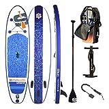 Stand up Paddle Gonfiabile - Pack Completo Fornito con pagaia + Leash + Pompa a Doppia Azione + Borsa per Il Trasporto, Cayman 10'