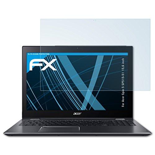 atFolix Schutzfolie kompatibel mit Acer Spin 5 SP515-51 15,6 inch Folie, ultraklare FX Bildschirmschutzfolie (2X)