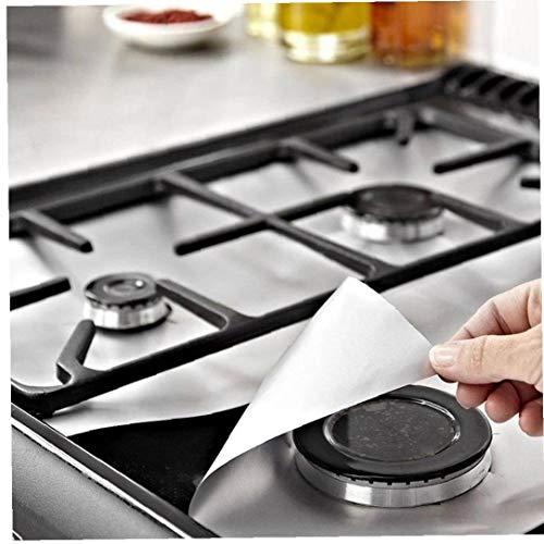 AMOYER 6pcs Ofen-Brenner Abdeckungen Gasherd Schutz Reusable Non-Stick Stove Top Liner Gasherd Zubehör -