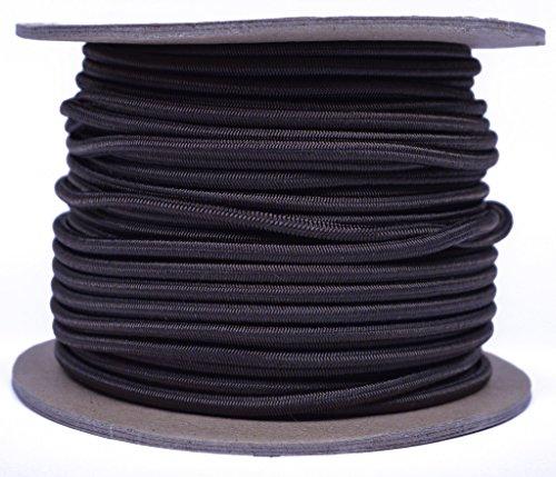Säure braun 1/20,3cm Gummiseil, gebohrt Paracord Marine Grade Schock/Bungee/Stretch Cord 1/20,3cm X 100Füße mehrere Farben-Made in USA -