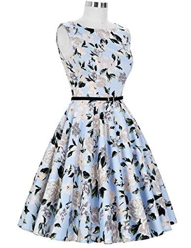 1950er rockabilly kleid ärmellos sommerkleid a linie festliches kleid abschlussballkleid Größe S CL6086-41 - 6