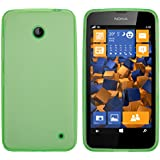 mumbi Schutzhülle Nokia Lumia 630/635 Hülle transparent grün