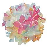 MiniSun – Moderner und mehrfarbiger Lampenschirm fürs Kinderzimmer mit Blumenmotiv – für Hänge- und Pendelleuchte