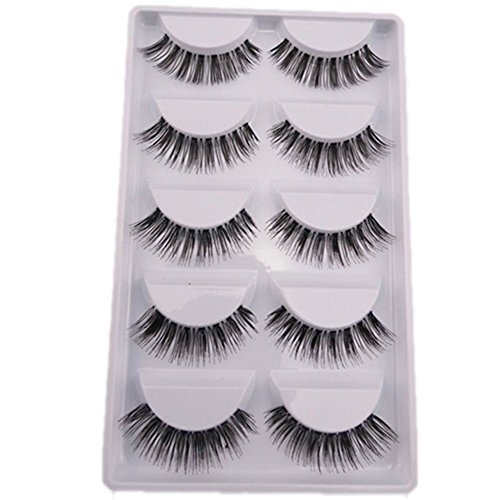 Bluelans?5 Pairs Natural Look Fake Eye Lash False Eyelashes Extension Makeup by (Up Make Fake)