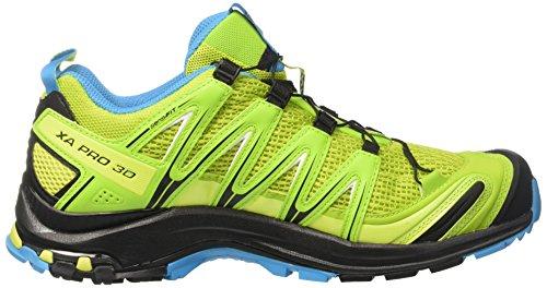 Salomon XA Pro 3D, Chaussures de Randonnée Homme Multicolore (Lime Green/hawaiian Ocean/bk)