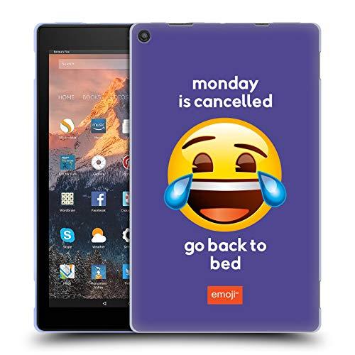 Head Case Designs Ufficiale Emoji® Monday Is Cancelled Parlare Cover in Morbido Gel Compatibile con Amazon Fire HD 10 (2017)