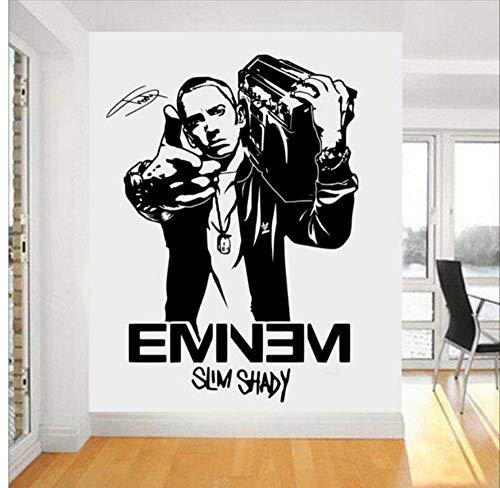 57X83cm Eminem Rapper Wandtattoo Sterne Abnehmbare Innenraum Fans Schlafzimmer Kinderzimmer Wandaufkleber Menschen Kunstwand -
