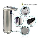 Automatischer Seifenspender, KOLIER Touchless Infrarot-Smart-Sensor Auto-Seife Seifenspender mit Wasserdichter Basis -