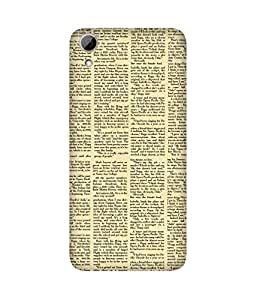 Newspaper Back Cover Case for HTC Desire 626