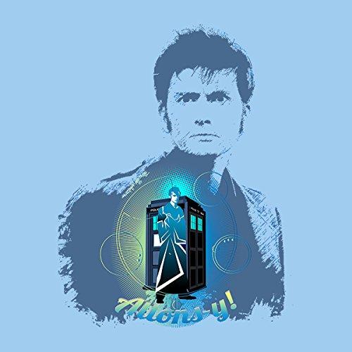 David Tennant Comp Doctor Who Tardis Women's Hooded Sweatshirt Sky Blue
