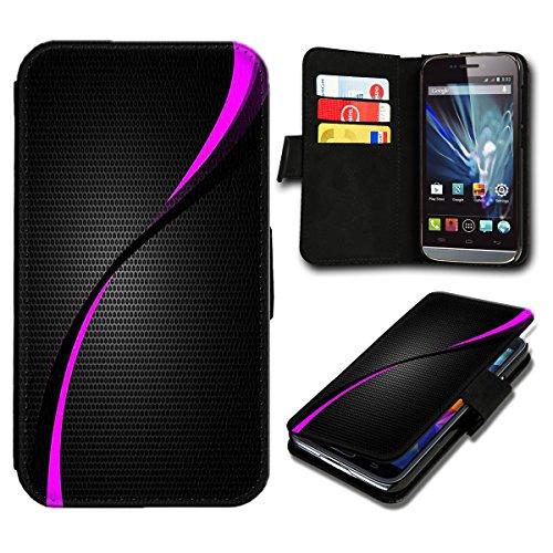 8 / One M8S Premium PU-Leder Tasche Flip Brieftasche Handy Hülle mit Kartenfächer für HTC One M8 / One M8S - Design Flip SB286 ()