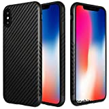iPhone X / IPhone 10 - Efonebits(TM) Carbon Fiber Series protective premium back cover for Apple iPhone X , IPhone 10 (iPhone X / IPhone 10, Black)