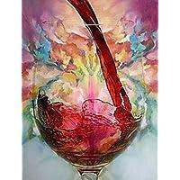 Dipinto a mano in vetro di vino singola Hotel Club