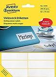 Avery Zweckform 3340 Vielzweck-Etiketten (Papier matt, 392 Klebeetiketten, 62 x 19 mm) 28 Blatt weiß