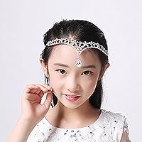 AdornHome Tocado de niña Children s tocado princess cadena de cabeza  frontal niñas peg de cabello frontal flor. 01bf8bbc422a
