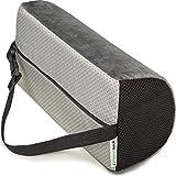 Supportiback® coussin lombaire thérapeutique en forme de D, mémoire de forme, coussin de soutien ergonomique pour le dos pour maison, bureau, voiture, voyage, soulage et prévient les douleurs dorsales