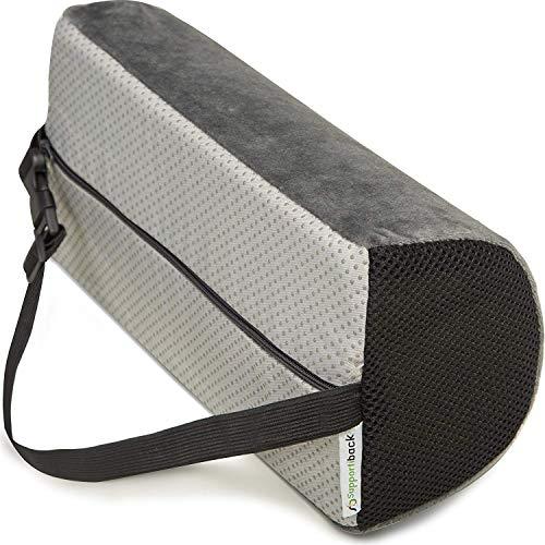 Supportiback® Orthopädisches Lendenkissen und Lordosekissen - ergonomisches Rückenkissen aus Visco-Memory-Schaum zur Entlastung des oberen und unteren Rückenbereichs - für Zuhause, Büro und unterwegs