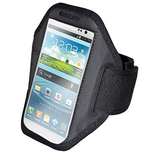 euro-handel24 handy-point Armhalter, Armband für Sport, Laufen, Joggen für Samsung Galaxy S4, S5, S5 Neo, S6, S7, A5 2016, Alpha, Grand Neo, Sony Xperia Z1, Z2, Z3, Z3+, Sony Z5 Compact, HTC One M8, M9,One E8, A9, Desire Eye, 620, LG L Bello, G3s, L80, G2, Lumia 535, 930, 830... Universell 14,5 cm x 8 cm mit Fach für Schlüssel, Kopfhörer, Schwarz (G2 Handy)