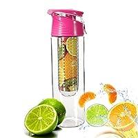 Demarkt 800ml Pink Fruit Infusing Water Bottle