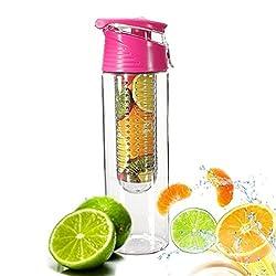 Trinkflasche für Fruchtschorlen Gemüseschorlen Wasserflasche Kunststoff Trinkflasche Sport Flasche ca. 800 ml Sportflasche Auslaufsicher BPA-frei von Demarkt (Rosa)
